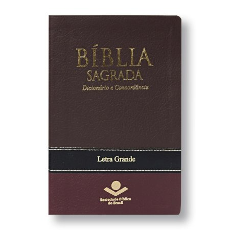 BÍBLIA RA067CDLG LETRA GRANDE VINHO DICIONÁRIO CONCORDÂNCIA