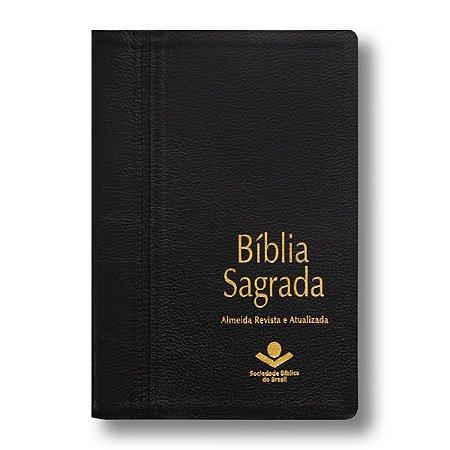 BÍBLIA RA069LGI PRETA COURO LEGÍTIMO