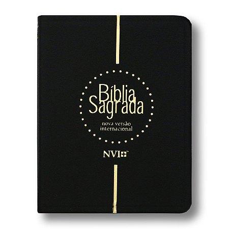 BÍBLIA NVI MÉDIA LUXO PRETA