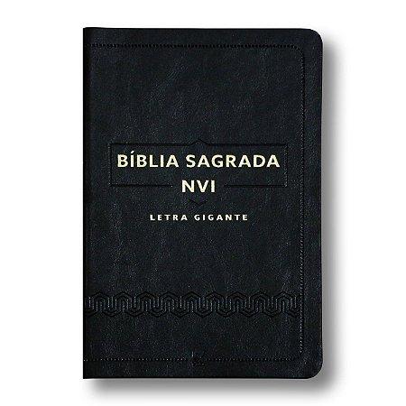 BÍBLIA NVI LETRA GIGANTE LUXO PRETA - VIDA