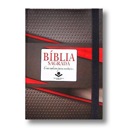 BÍBLIA RA043LMFB LETRA MAIOR TRADICIONAL CAPA DURA ELÁSTICO / CADERNO ANOTAÇÕES
