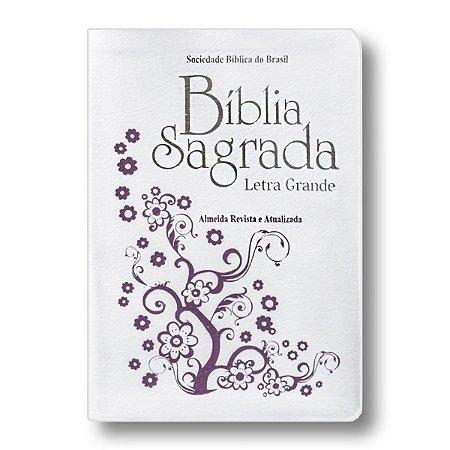 BÍBLIA RA047LG LETRA GRANDE BRANCA RECOURO LUXO