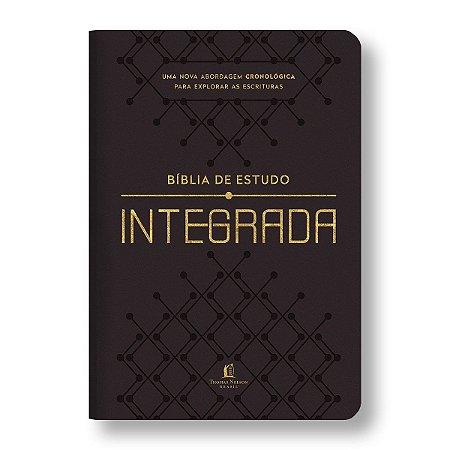 BÍBLIA DE ESTUDO INTEGRADA EM ORDEM CRONOLÓGICA NVI - LUXO MARROM ESCURO