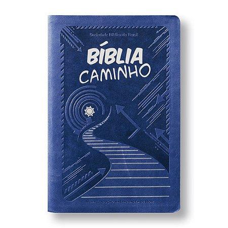 BÍBLIA CAMINHO NTLH063 JOVENS - COM. JAIME KEMP - AZUL
