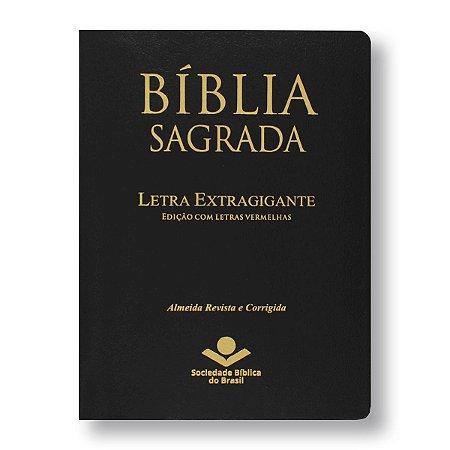 BÍBLIA ARC087TILEXGLV LT EXTRAGIGANTE ÍNDICE PRETA