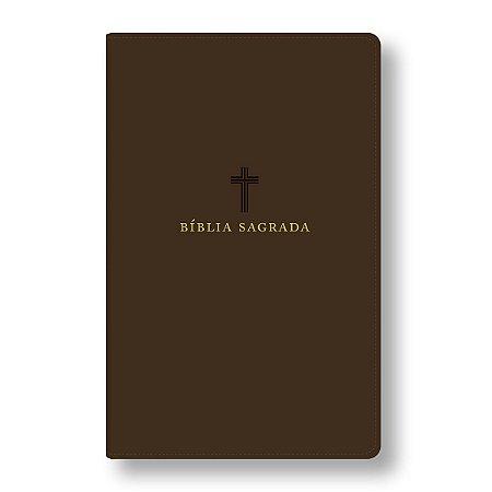 BÍBLIA ACF LETRA GRANDE CAPA RECOURO MARROM