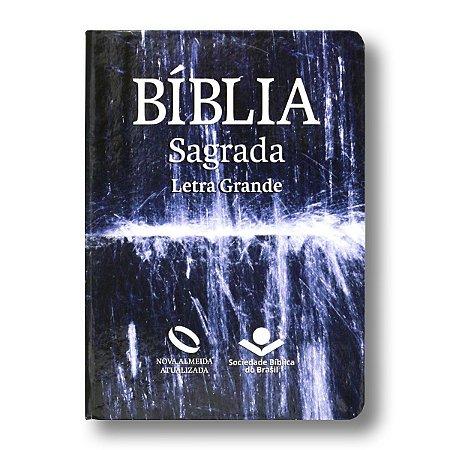 BÍBLIA NA041TILGL ÁGUA LETRA GRANDE SEMI FLEXÍVEL COM ÍNDICE