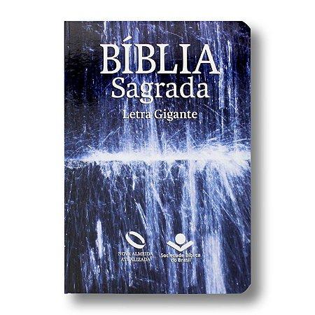 BÍBLIA NA065TILGI ÁGUA LETRA GIGANTE SEMI FLEXÍVEL ÍNDICE