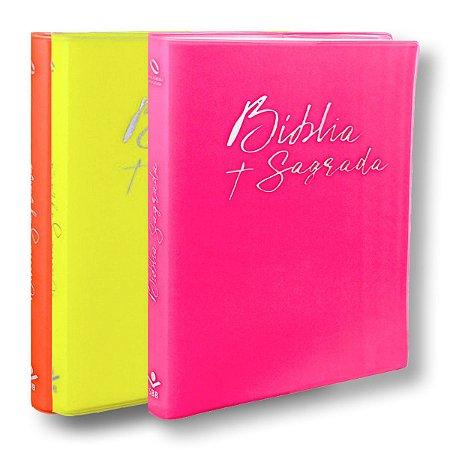 BÍBLIA NA60LR BROCHURA CAPA SEM IMPRESSÃO / COM 3 SOBRECAPAS COLORIDAS