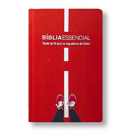 BÍBLIA NA063BESS ESSENCIAL CAPA DURA ILUSTRADA VERMELHA