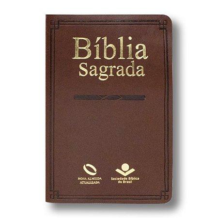 BÍBLIA NA65:RS MISSIONÁRIA MARROM ESCURO