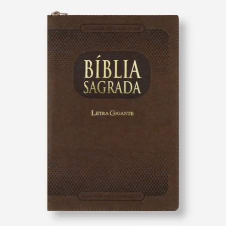 BÍBLIA RA065TIZLGI LETRA GIGANTE MARROM ZÍPER COM ÍNDICE