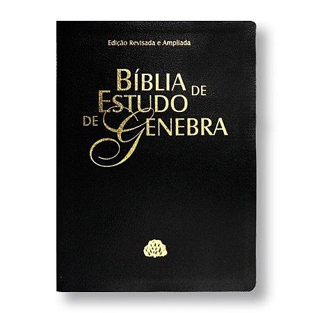 BÍBLIA DE ESTUDO DE GENEBRA RA085 - PRETA - EDIÇÃO REVISTA E AMPLIADA