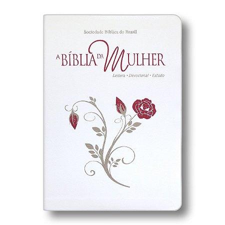 A BÍBLIA DA MULHER RA057BMRAM BRANCA COM BEIRAS FLORIDAS