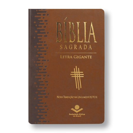 BÍBLIA NTLH065TILGI  LETRA GIGANTE MARROM CLARO ÍNDICE