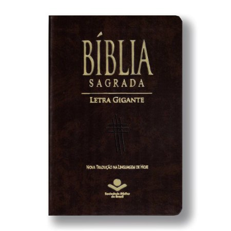 BÍBLIA NTLH065LGI LETRA GIGANTE COM ÍNDICE MARROM NOBRE