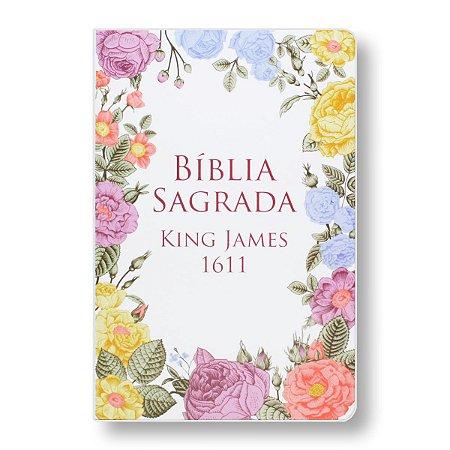 BÍBLIA KING JAMES 1611 - CAPA SEMI-LUXO - FLORES COLORIDAS