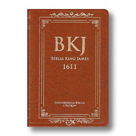 BÍBLIA KING JAMES 1611 COM CONCORDÂNCIA STANDARD - MARROM