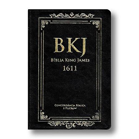 BÍBLIA KING JAMES 1611 COM CONCORDÂNCIA STANDARD - PRETA