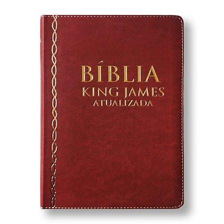BÍBLIA KING JAMES ATUALIZADA - CAPA VINHO