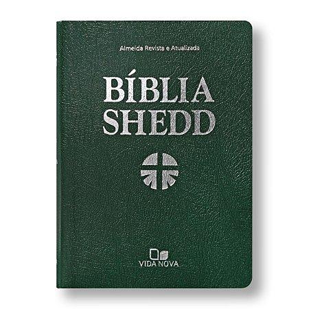 BÍBLIA DE ESTUDO SHEDD COVERTEX VERDE