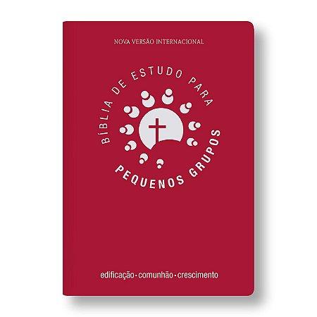 BÍBLIA DE ESTUDO PARA PEQUENOS GRUPOS: CAPA VERMELHO ESCURO