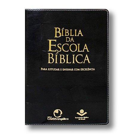 BÍBLIA ESCOLA BÍBLICA PRETA NOBRE
