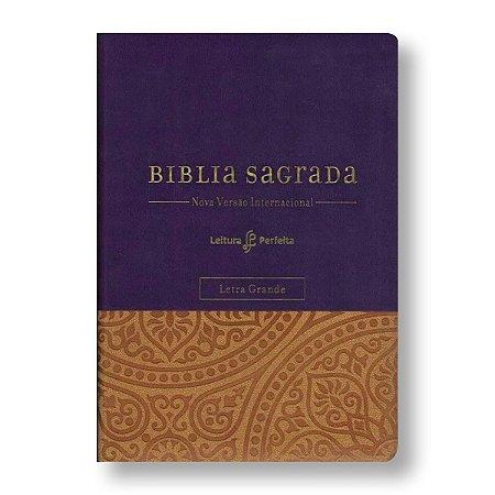 SUA BÍBLIA - LETRA GRANDE - COM ESPAÇO PARA ANOTAÇÕES - CAPA ROXA
