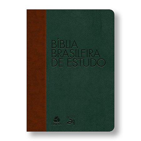 BÍBLIA BRASILEIRA DE ESTUDO MARROM / VERDE