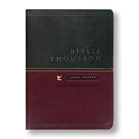 BÍBLIA THOMPSON LETRA GRANDE VERDE / VINHO ÍNDICE