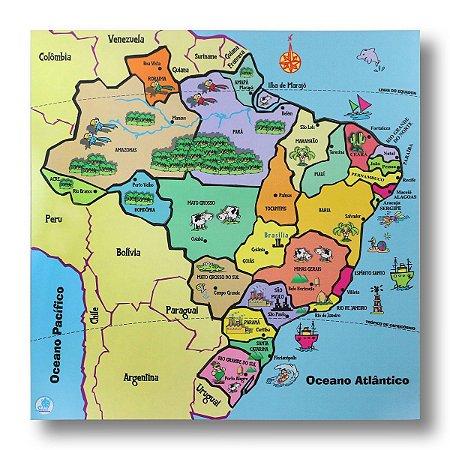QUEBRA-CABEÇA MAPA ESTADOS DO BRASIL