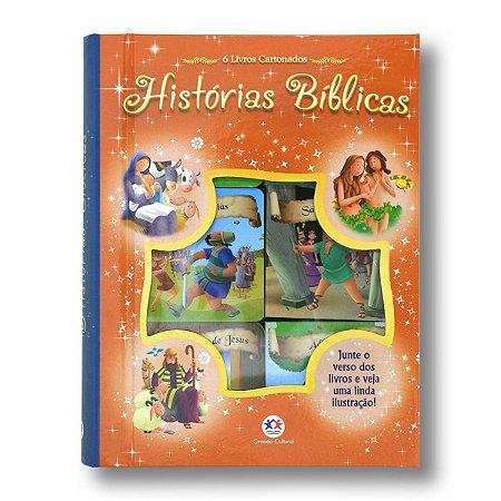 BOX 6 - HISTÓRIAS BÍBLICAS COM 6 UNIDADES DE MINILIVROS CARTONADOS