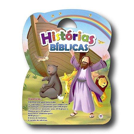 MALETA HISTORIAS BÍBLICAS - ARCA DE NOÉ CDROM + 8 LIVROS