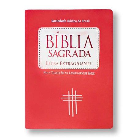 BÍBLIA NTLH085 LETRA EXTRAGIGANTE ÍNDICE LUXO PÊSSEGO BRANCO