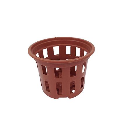 Kit 10 Vasos Rede Pote 10 - Marrom