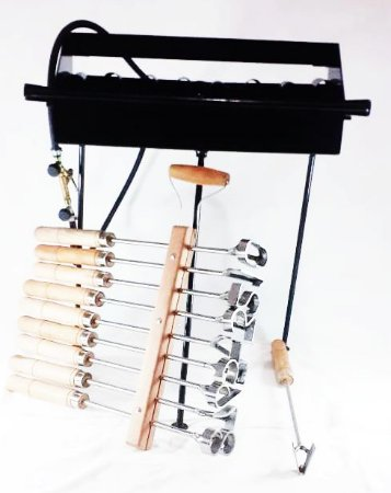 Kit 1 fogareiro de 12 + 1 Jogo de numeros de 5cm + 1 Letra V de Brucelose
