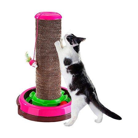 Arranhador Truqys Arranha Céu para Gatos Rosa