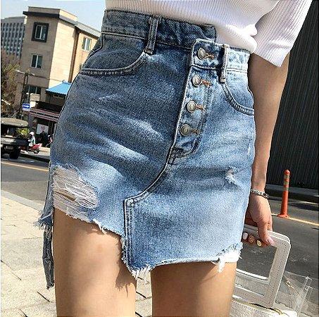Saia Jeans Cós Desigual