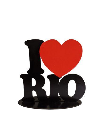 Placa I love Rio MDF com base