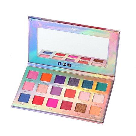 Paleta de Sombra Illuminate Beauty 18 Cores Mylife Versão 01