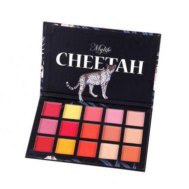 Paleta de Sombras Cheetah 15 Cores Mylife