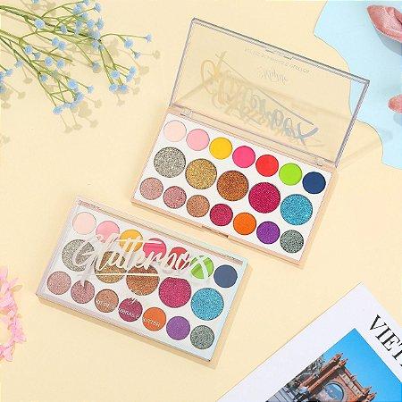 Paleta de Glitter Glitterbox 19 Cores  Mylife