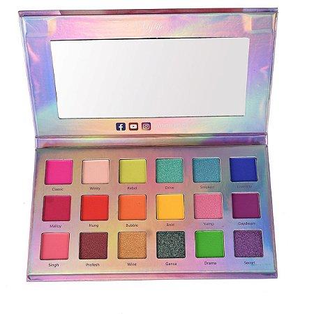 Paleta de Sombras Illuminate Beauty 18 cores Mylife