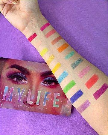 Paleta de Sombras Illuminate Beauty 18 cores Mylife Versão 02