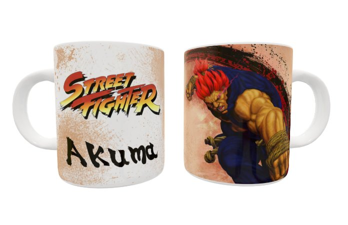 Caneca Street Fighter Akuma