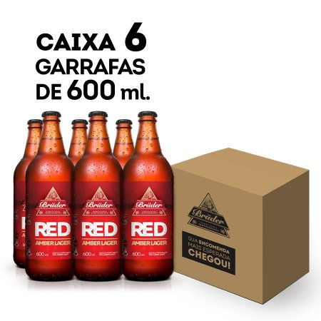 Caixa  Red Amber Lager 600ml - 6 unidades