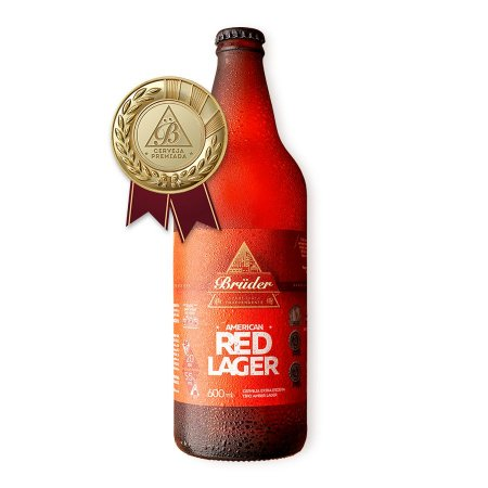 Cerveja Brüder American Red Lager 600ml