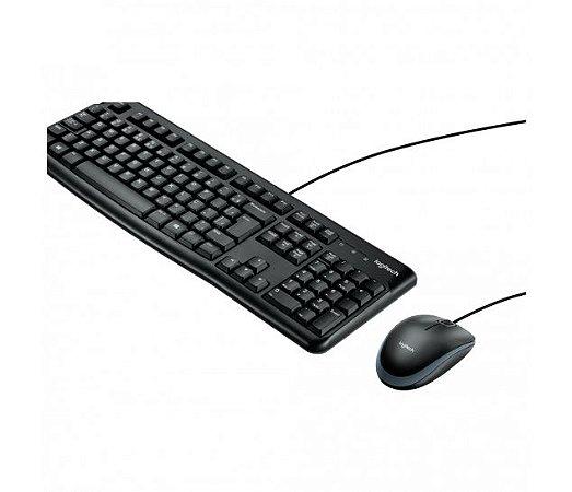 Kit Teclado e Mouse com fio USB Logitech MK120
