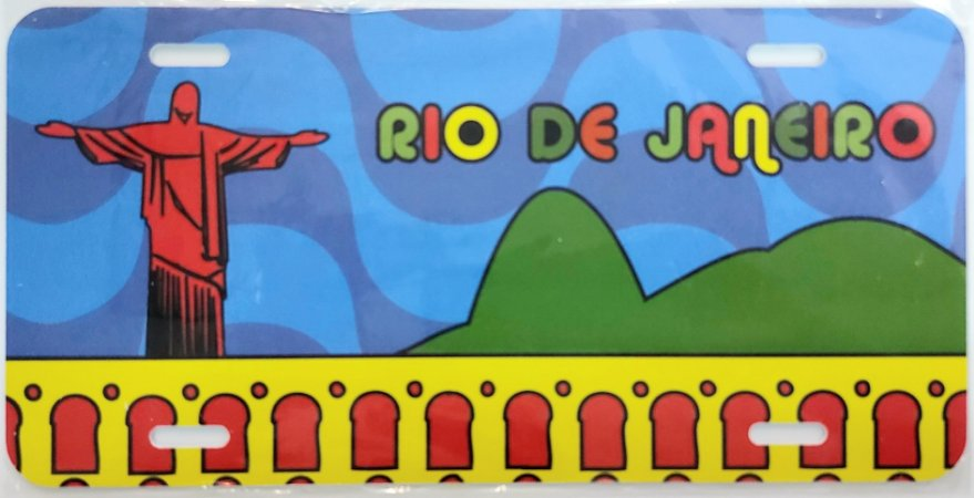 Placa Rio colorido