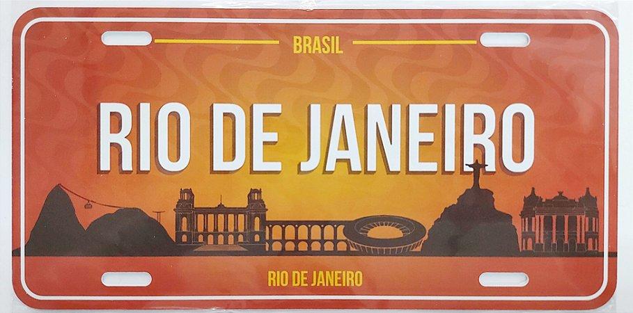 Placa Rio laranja